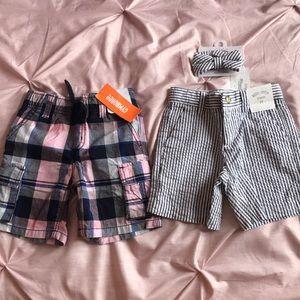 Gymboree NEW toddler bow tie and shorts
